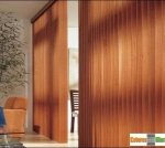 bandas verticais em madeira